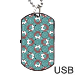 Colorful Geometric Graphic Floral Pattern Dog Tag Usb Flash (two Sides)