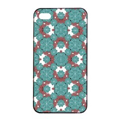 Colorful Geometric Graphic Floral Pattern Apple Iphone 4/4s Seamless Case (black)