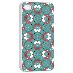 Colorful Geometric Graphic Floral Pattern Apple Iphone 4/4s Seamless Case (white)