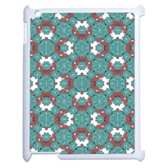 Colorful Geometric Graphic Floral Pattern Apple Ipad 2 Case (white)