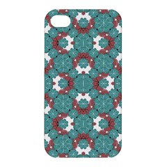 Colorful Geometric Graphic Floral Pattern Apple Iphone 4/4s Premium Hardshell Case