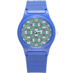 Colorful Geometric Graphic Floral Pattern Round Plastic Sport Watch (s)