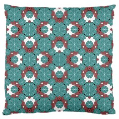 Colorful Geometric Graphic Floral Pattern Large Cushion Case (one Side)