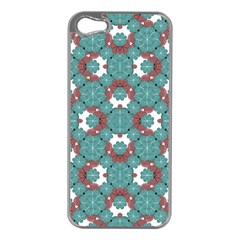 Colorful Geometric Graphic Floral Pattern Apple Iphone 5 Case (silver)