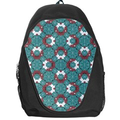 Colorful Geometric Graphic Floral Pattern Backpack Bag