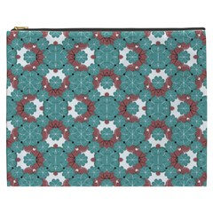 Colorful Geometric Graphic Floral Pattern Cosmetic Bag (xxxl)