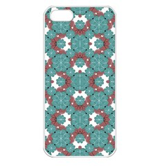 Colorful Geometric Graphic Floral Pattern Apple Iphone 5 Seamless Case (white)