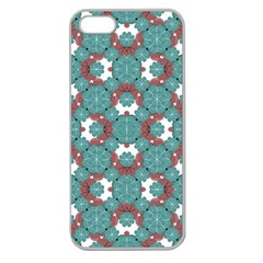 Colorful Geometric Graphic Floral Pattern Apple Seamless Iphone 5 Case (clear)