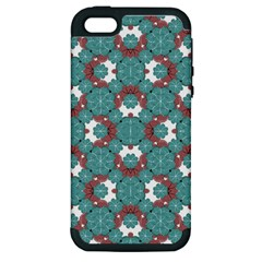 Colorful Geometric Graphic Floral Pattern Apple Iphone 5 Hardshell Case (pc+silicone)