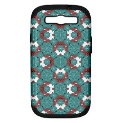 Colorful Geometric Graphic Floral Pattern Samsung Galaxy S Iii Hardshell Case (pc+silicone)