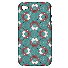 Colorful Geometric Graphic Floral Pattern Apple Iphone 4/4s Hardshell Case (pc+silicone)