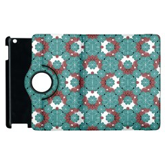 Colorful Geometric Graphic Floral Pattern Apple Ipad 3/4 Flip 360 Case