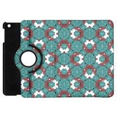 Colorful Geometric Graphic Floral Pattern Apple Ipad Mini Flip 360 Case