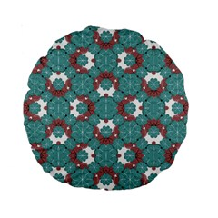 Colorful Geometric Graphic Floral Pattern Standard 15  Premium Round Cushions