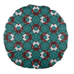 Colorful Geometric Graphic Floral Pattern Large 18  Premium Round Cushions