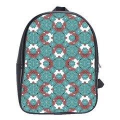 Colorful Geometric Graphic Floral Pattern School Bag (xl)