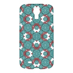 Colorful Geometric Graphic Floral Pattern Samsung Galaxy S4 I9500/i9505 Hardshell Case
