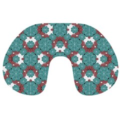 Colorful Geometric Graphic Floral Pattern Travel Neck Pillows
