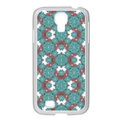 Colorful Geometric Graphic Floral Pattern Samsung Galaxy S4 I9500/ I9505 Case (white)