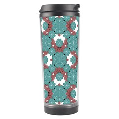 Colorful Geometric Graphic Floral Pattern Travel Tumbler