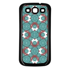Colorful Geometric Graphic Floral Pattern Samsung Galaxy S3 Back Case (black)