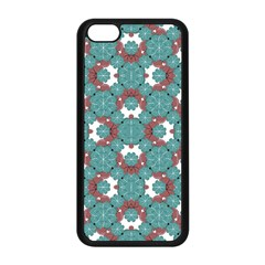 Colorful Geometric Graphic Floral Pattern Apple Iphone 5c Seamless Case (black)