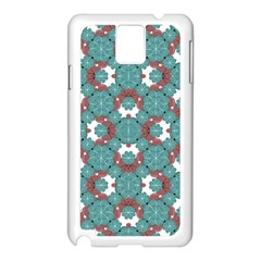 Colorful Geometric Graphic Floral Pattern Samsung Galaxy Note 3 N9005 Case (white)