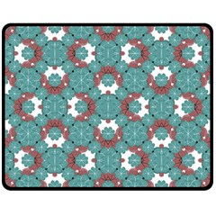 Colorful Geometric Graphic Floral Pattern Double Sided Fleece Blanket (medium)