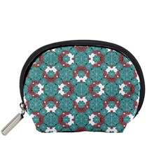 Colorful Geometric Graphic Floral Pattern Accessory Pouches (small)