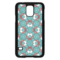 Colorful Geometric Graphic Floral Pattern Samsung Galaxy S5 Case (black)
