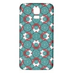 Colorful Geometric Graphic Floral Pattern Samsung Galaxy S5 Back Case (white)