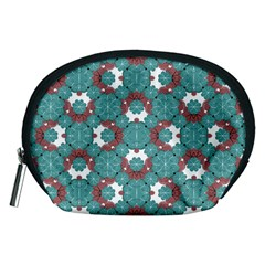 Colorful Geometric Graphic Floral Pattern Accessory Pouches (medium)