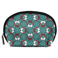 Colorful Geometric Graphic Floral Pattern Accessory Pouches (large)
