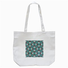 Colorful Geometric Graphic Floral Pattern Tote Bag (white)
