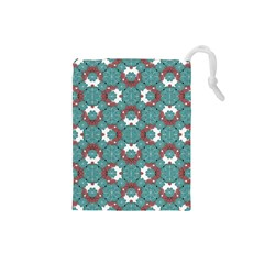 Colorful Geometric Graphic Floral Pattern Drawstring Pouches (small)