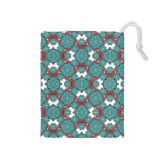 Colorful Geometric Graphic Floral Pattern Drawstring Pouches (medium)