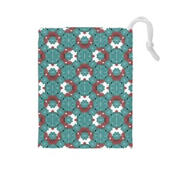Colorful Geometric Graphic Floral Pattern Drawstring Pouches (large)