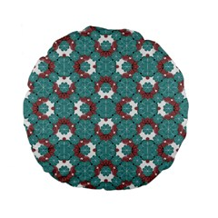 Colorful Geometric Graphic Floral Pattern Standard 15  Premium Flano Round Cushions