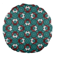 Colorful Geometric Graphic Floral Pattern Large 18  Premium Flano Round Cushions