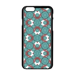 Colorful Geometric Graphic Floral Pattern Apple Iphone 6/6s Black Enamel Case