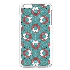 Colorful Geometric Graphic Floral Pattern Apple Iphone 6 Plus/6s Plus Enamel White Case