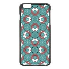 Colorful Geometric Graphic Floral Pattern Apple Iphone 6 Plus/6s Plus Black Enamel Case