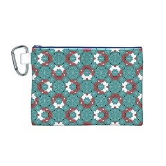 Colorful Geometric Graphic Floral Pattern Canvas Cosmetic Bag (m)