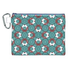 Colorful Geometric Graphic Floral Pattern Canvas Cosmetic Bag (xxl)