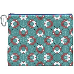Colorful Geometric Graphic Floral Pattern Canvas Cosmetic Bag (xxxl)
