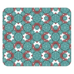 Colorful Geometric Graphic Floral Pattern Double Sided Flano Blanket (small)