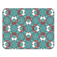 Colorful Geometric Graphic Floral Pattern Double Sided Flano Blanket (large)