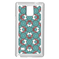Colorful Geometric Graphic Floral Pattern Samsung Galaxy Note 4 Case (white)