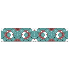 Colorful Geometric Graphic Floral Pattern Flano Scarf (small)
