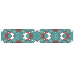 Colorful Geometric Graphic Floral Pattern Flano Scarf (large)